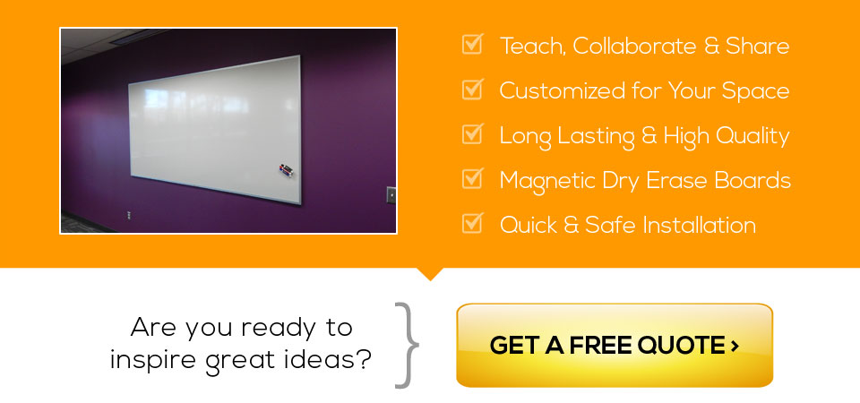 Get a free custom marker board quote in San Jose