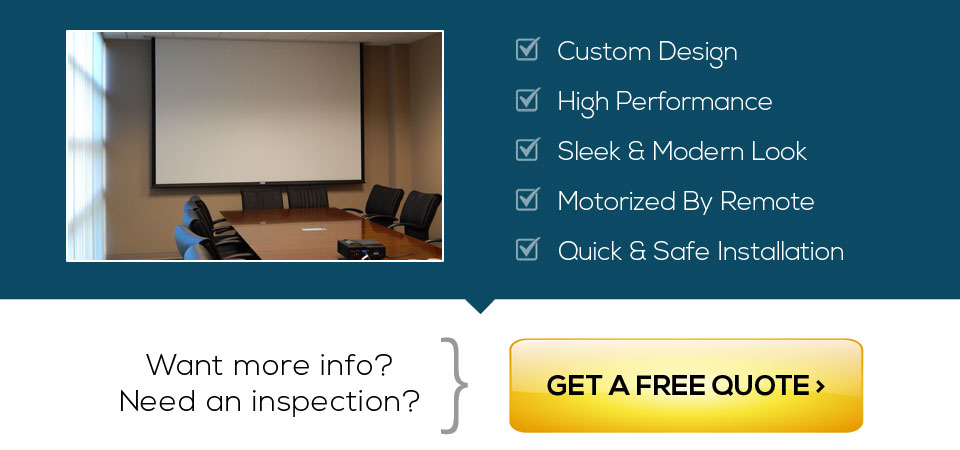 Get a free quote for custom and motorized projection screens in San Francisco