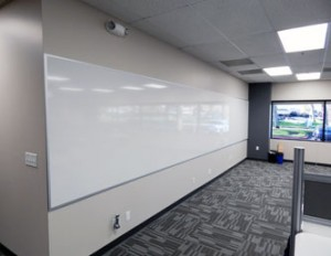Large dry erase boards make it simple to share ideas